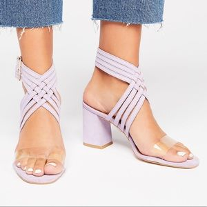 Free people purple block heels